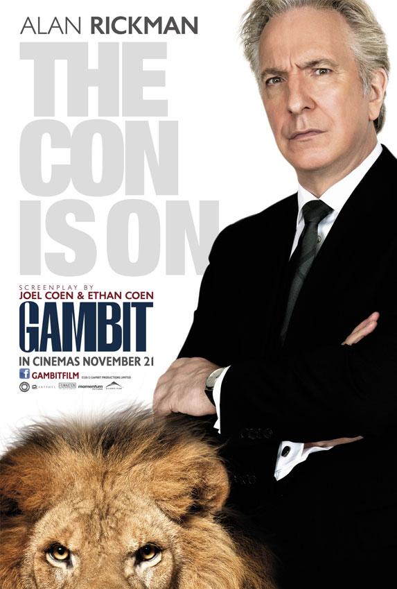 Alan Rickman Gambit Poster skip crop