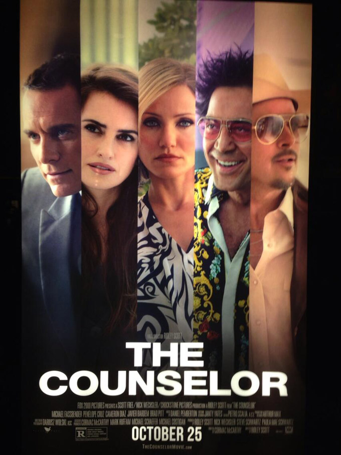 The Counselor, poster