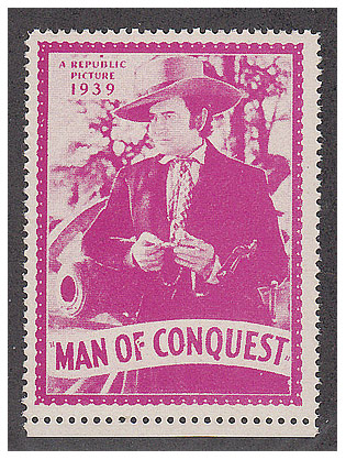 Man of Conquest Movie Stamp-1