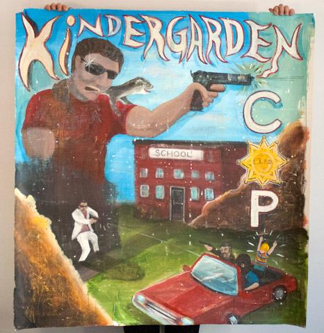 Kindergarten cop hand made poster