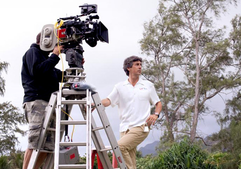 Alexander Payne on location during filming of 'The Descendants'.