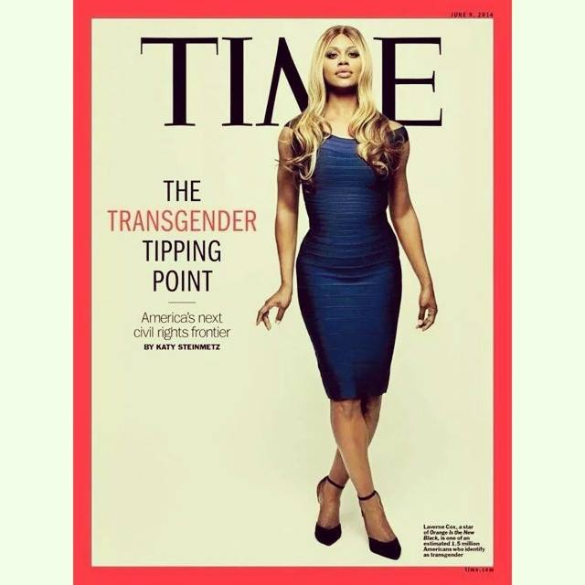 Laverne Cox on the cover of Time Magazine.