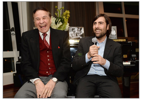 A mutual admiration society: Richard Sherman and Jason Schwartzman.