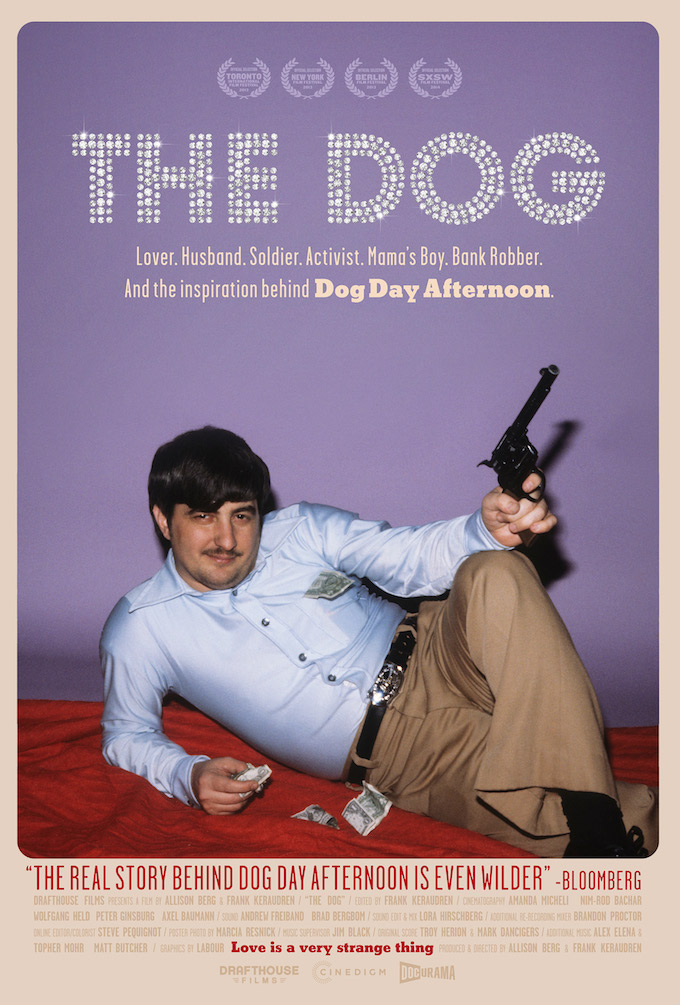 "A poster for documentary film ""The Dog"""