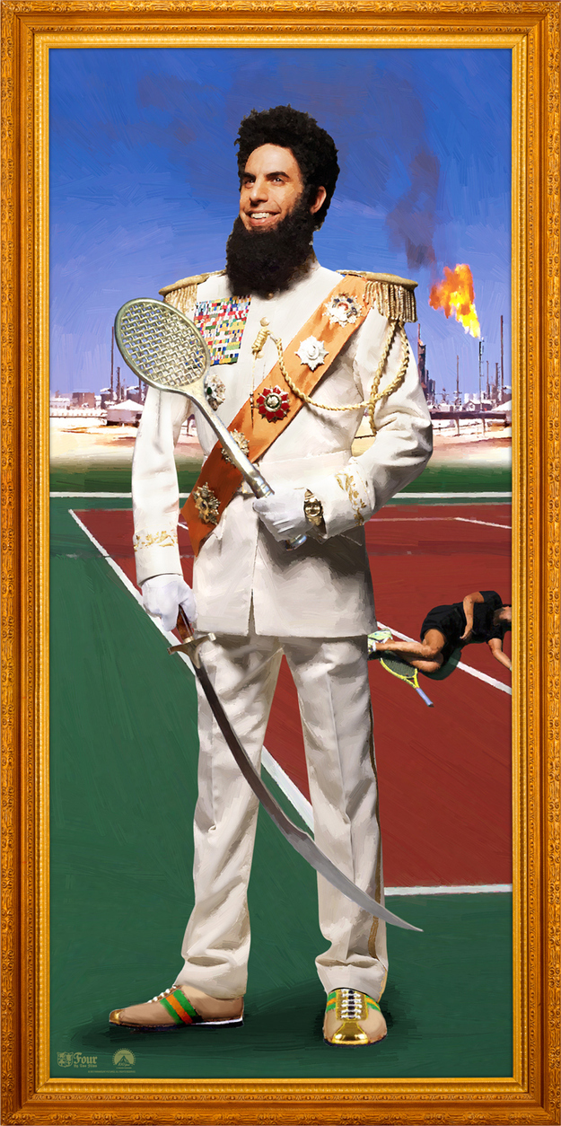 The Dictator Tennis Portrait skip crop