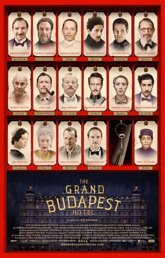 Grand Budapest Hotel, poster