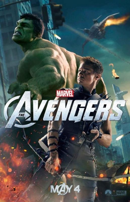 The Avengers Hulk Hawkeye Poster