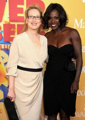 Meryl Streep and Viola Davis at Women in Film Crystal Awards 2012