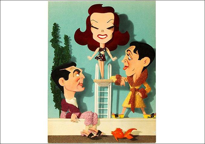 Cary Grant, Katharine Hepburn and James Stewart-by Jacques Kapralik