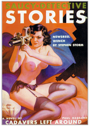 How much did newsreels become part of our pop culture? This cover of a 1930s pulp magazine should answer that.