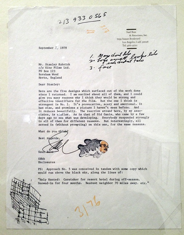 Shining Saul Bass letter signature