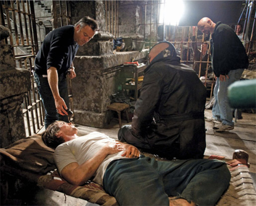 Tom Hardy Christian Bale The Dark Knight Rises Behind The Scenes skip crop