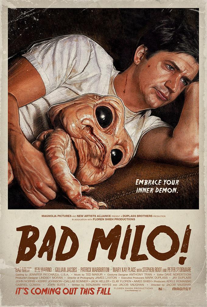 Bad milo, poster