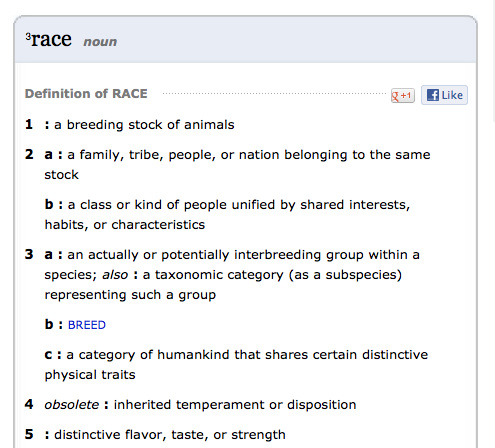 Racial ideology vs Racial ignorance?