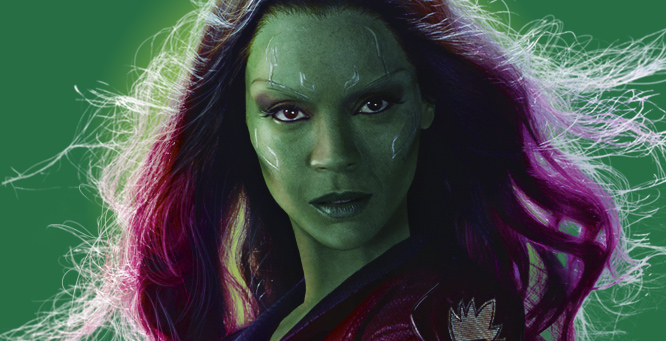 "Zoe Saldana as ""Guardians of the Galaxy's"" Gamora"