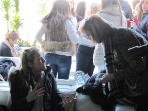 Joey Lauren Adams speaks with ED's Sherry Schweitzer at the Creative Coalition luncheon