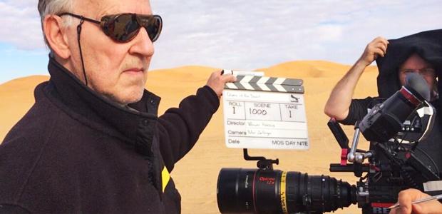 "Werner Herzog on the set of ""Queen of the Desert"""