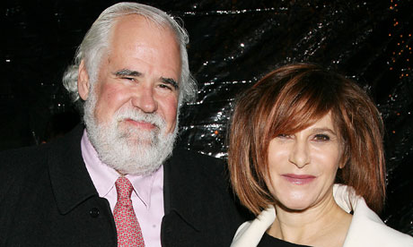Photo of Amy Pascal & her friend celebrity  Jeff Blake -