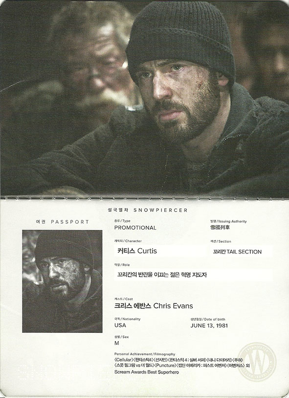 Snow Piercer, Chris Evans