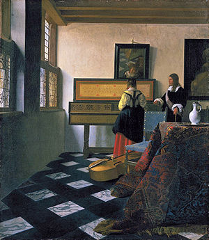 Vermeer's 'The Music Lesson'
