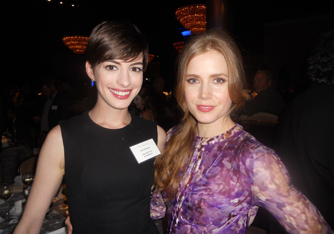 Anne Hathaway and Amy Adams, both vying for a Best Supporting Actress award, were kind enough to pose for my camera.