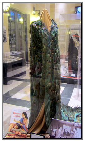 Samson and Delilah peacock plumed dress for Hedy Lamarr.