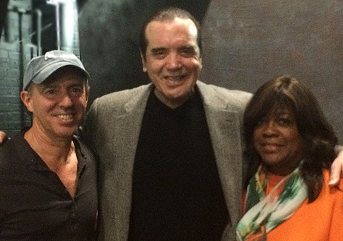 Jon Kilik, Chazz Palminteri and Chaz Ebert backstage.