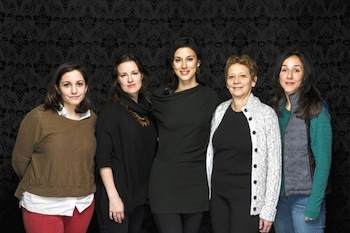Participating in a women's directors roundtable at the Sundance Film Festival are Hannah Fidell, left, LIz Garcia, Cherien Dabis, Naomi Foner and Gabriela Cowperthwaite