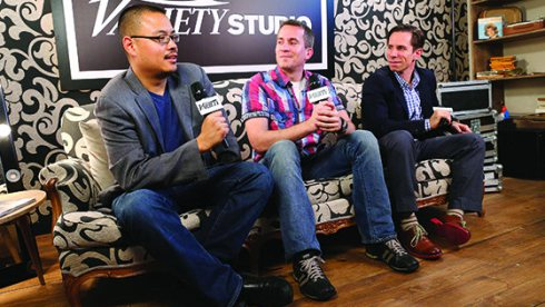 Variety critics (L-R) Justin Chang, Peter Debruge and Scott Foundas