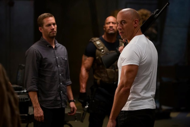 Fast & Furious 6 Paul Walker Vin Diesel Dwayne Johnson skip crop