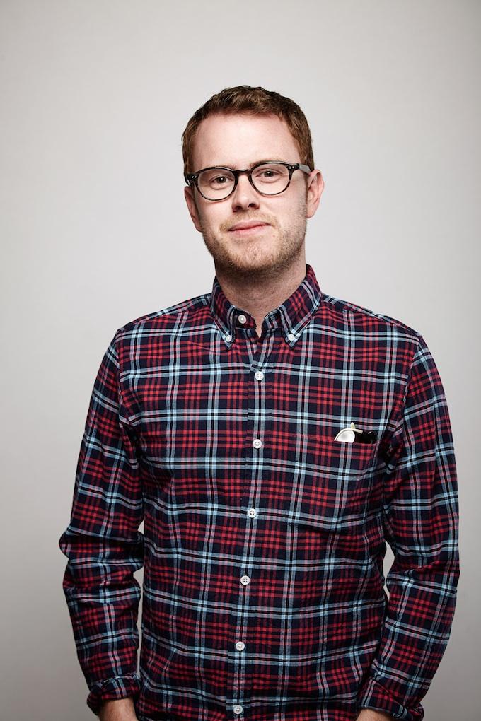"Christian Sprenger, cinematographer of ""Gregory Go Boom"" at the Canon Craft Cocktails Portrait Studio at the 2014 Sundance Film Festival"