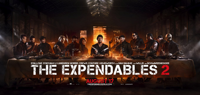 The Expendables 2 banner
