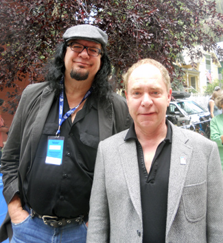 A long way from Vegas; first-time director Teller (right) and his producing partner Penn Jillette.