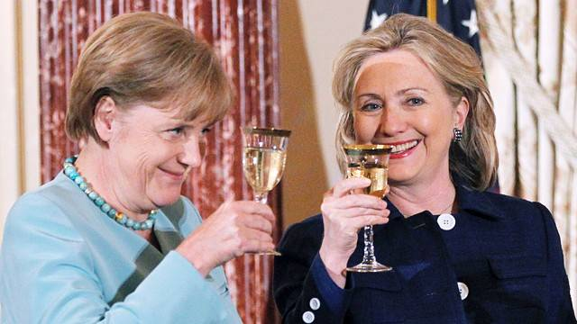 Two of Forbes' Most Powerful Women: Angela Merkel and Hillary Clinton