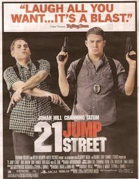 21 Jump Street Weird Pull Quote