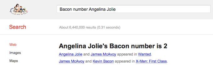 Bacon Number Jolie