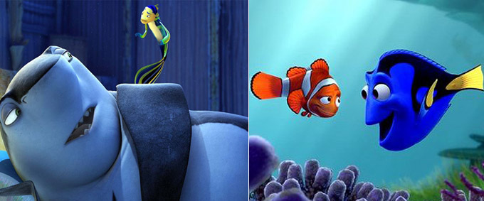"""Shark Tale"" vs. ""Finding Nemo"""