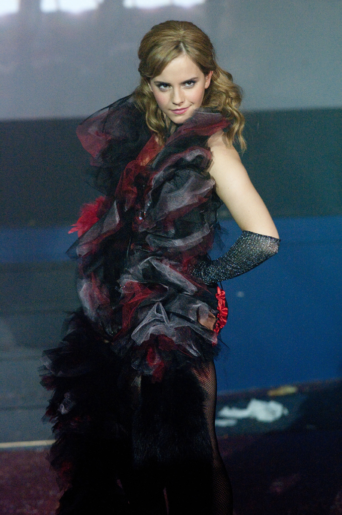 "Emma Watson as a member of a ""Rocky Horror"" shadowcast in ""Perks of Being a Wallflower"""