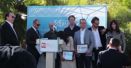 Steve Gaydos, left, of Variety brings the prestigious '10 Best ...' Awards ceremony to Palm Springs Film Fest.