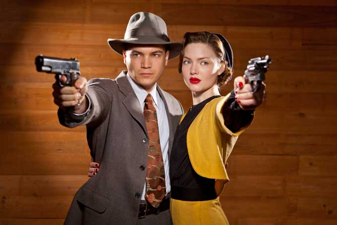 "Hirsch and Holiday Grainger in ""Bonnie and Clyde."""