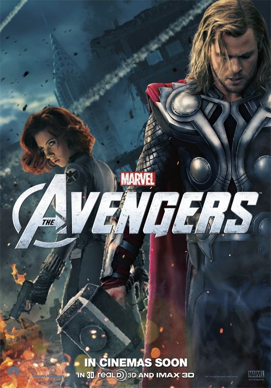 The Avengers Thor Black Widow Poster