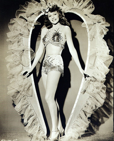 Columbia starlet Rita Hayworth