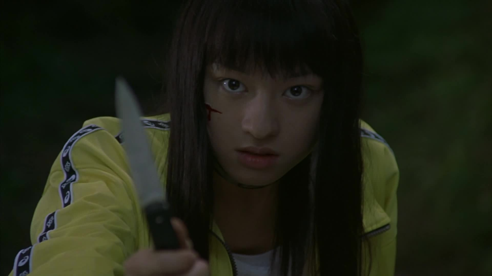 video three reasons battle royale a hunger games for grownups one notable assailant is played by chiaki kuriyama who basically reprises the the same role in quentin tarantino s love letter to j sploitation kill bill