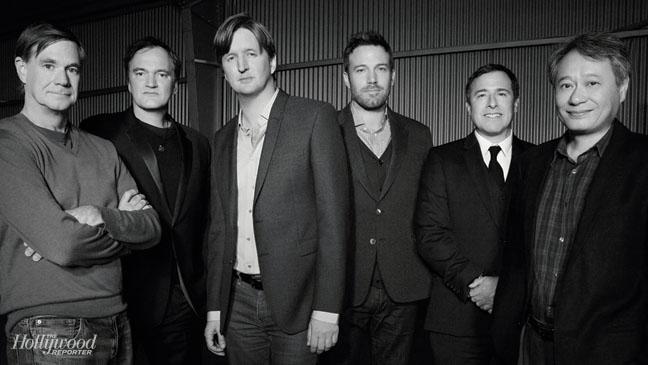 L-R: Gus Van Sant, Quentin Tarantino, Tom Hooper, Ben Affleck, David O. Russell, Ang Lee