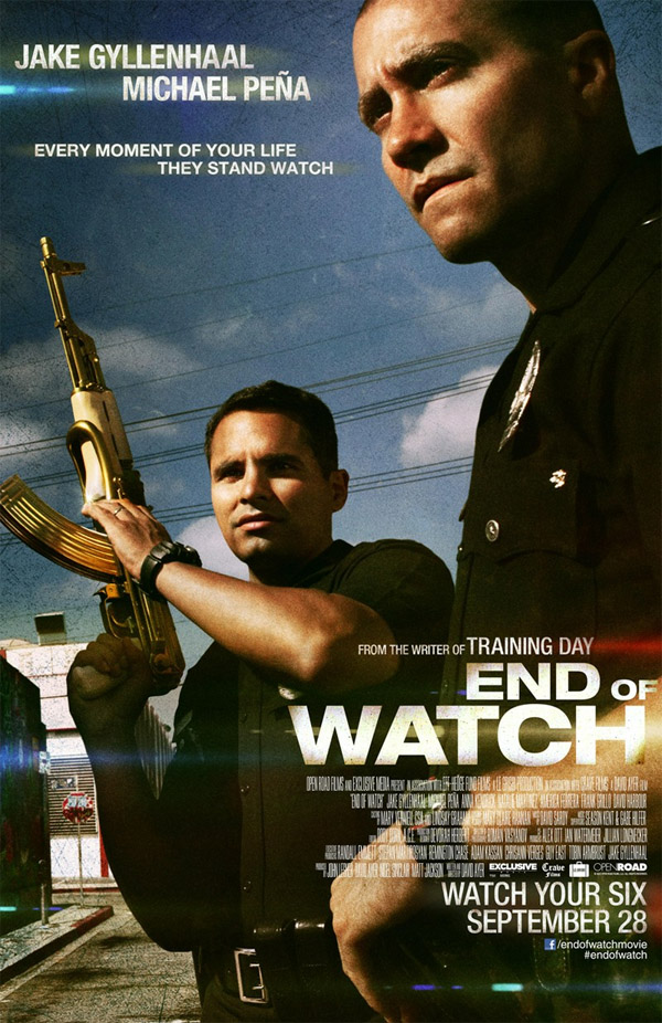 Ayer End Of Watch Poster