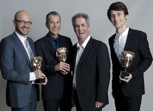 Room on the Broom producers Michael Rose and Martin Pope and directors Max Lang and Jan Lachauer win the Children's BAFTA for Best Animation.