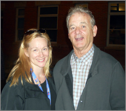 Costars Laura Linney and Bill Murray after the first showing of 'Hyde Park on Hudson'.