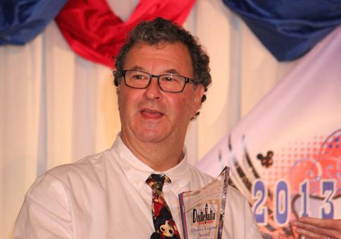 "Howard Green, in high spirits at the Disneyana convention."""