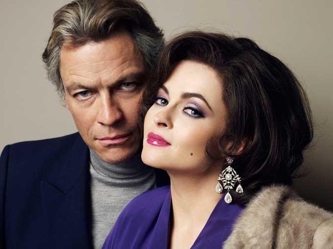 Dominic West and Helena Bonham Carter in 'Burton & Taylor'