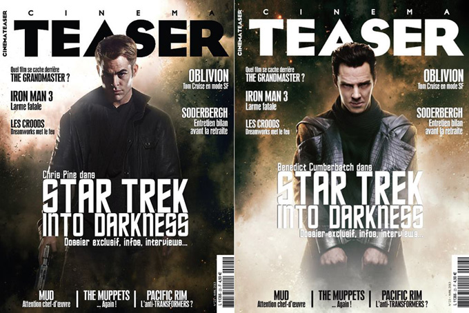 Star Trek Into Darkness Cinema Teaser Covers
